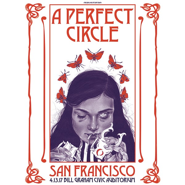 "Image of ""The Devil Has My Ear Today""- A Perfect Circle AP Screenprinted Poster"