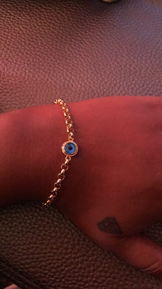 Image of Bonded evil eye bracelet (w/one eye)
