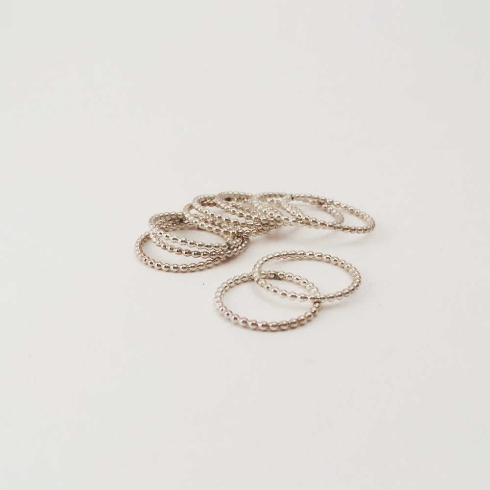 Image of Beaded Stacking Ring