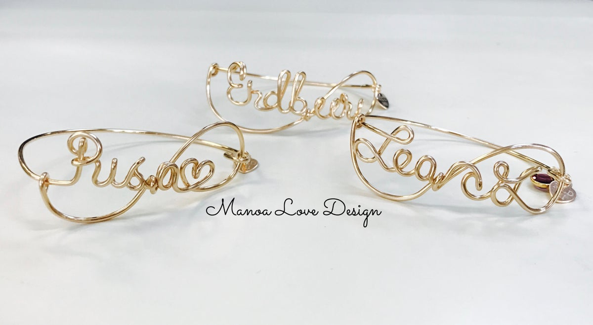 Image of Custom Order wire Name Bracelet