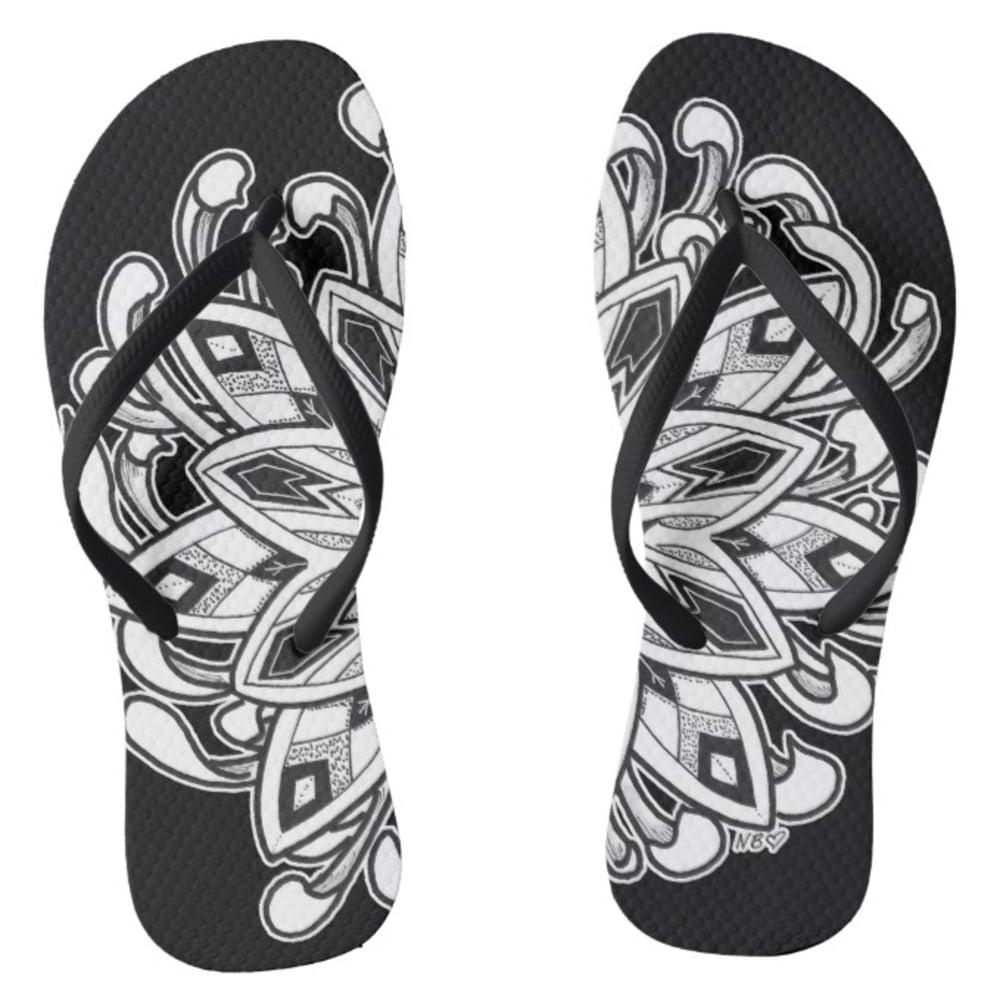 Image of Lotus Mandala Flip Flops