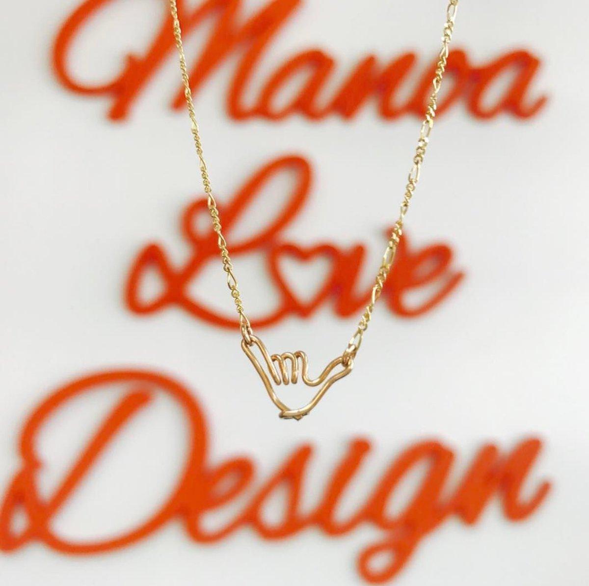 Image of ALOHA Shaka Necklace