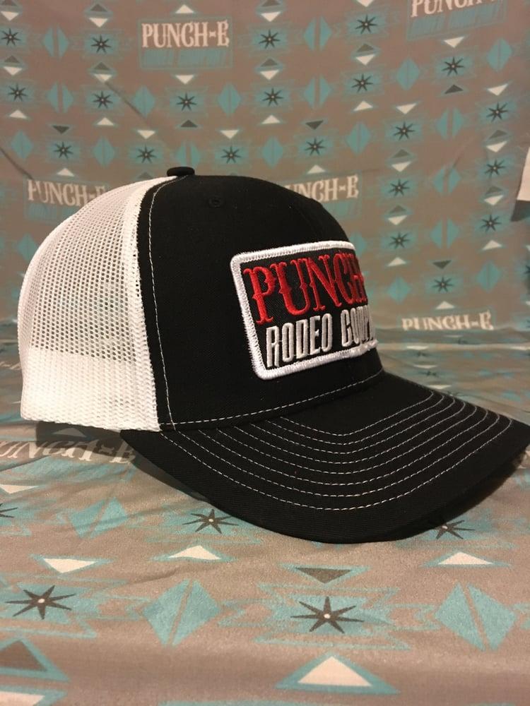 Image of Punc-E Logo (Black-white) Bent bill