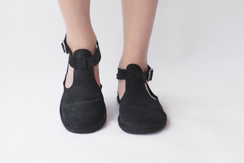 Image of Cut-out in Nubuck Black
