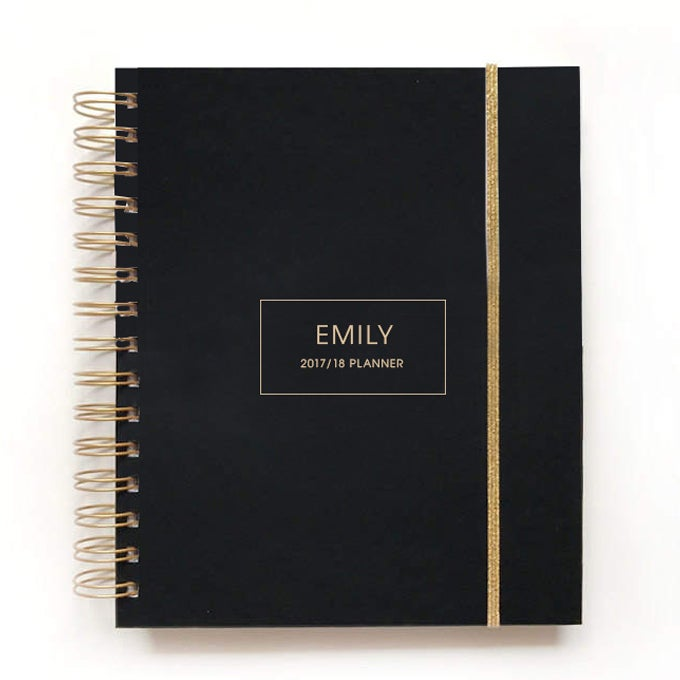 Image of 2018/19 2019 personalized planner black