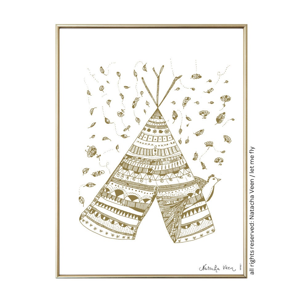 Image of *Gold Tipi*_18x24cm