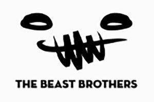 "Image of Enamel Pin Set of 2 ""Beast Brothers"" Collaboration"