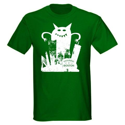 Monster VS Boston Adult Unisex T-Shirt
