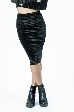Image of Velvet Midi Skirt