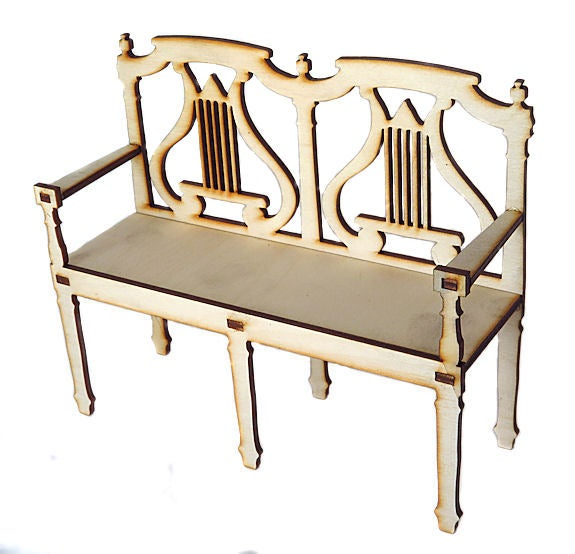 Image of Furniture Wood Kit-Victorian Settee