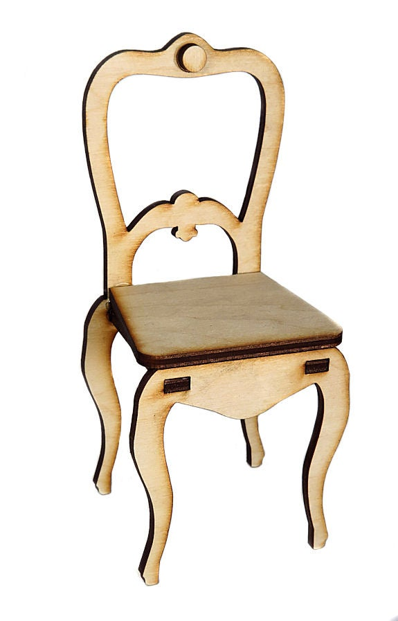 Image of Furniture Wood Kit- Armless Victorian Chair