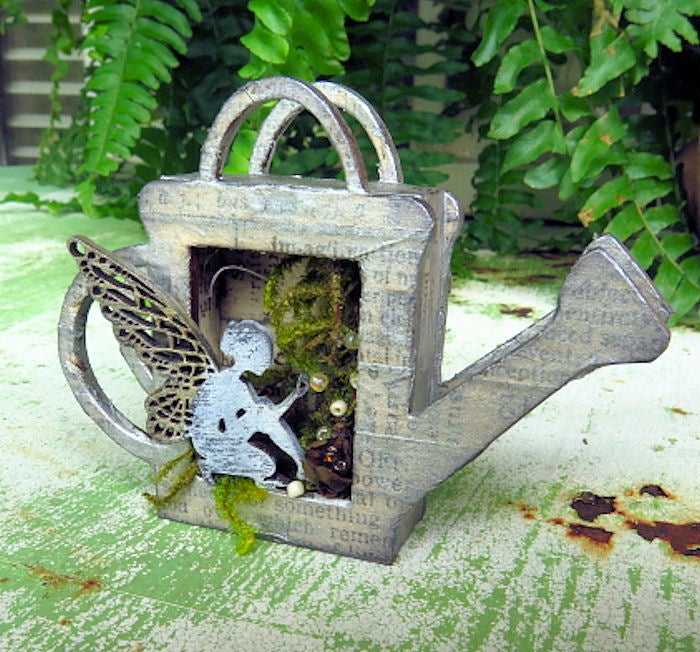 Image of Wood Shrine Kits- Tiny Watering Can Shrine