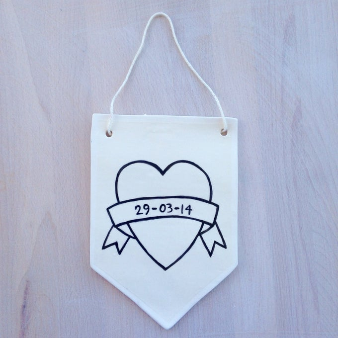 Image of Custom Heart Wall Hanging
