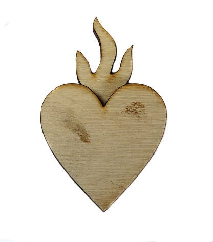 Image of Wooden Icons- Bleeding Heart- 2Layers