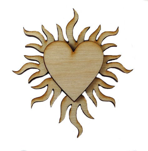 Image of Wooden Icon- Heart of Fire- 2 Layers