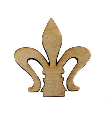 Image of Wooden Icon- Fleur de lis