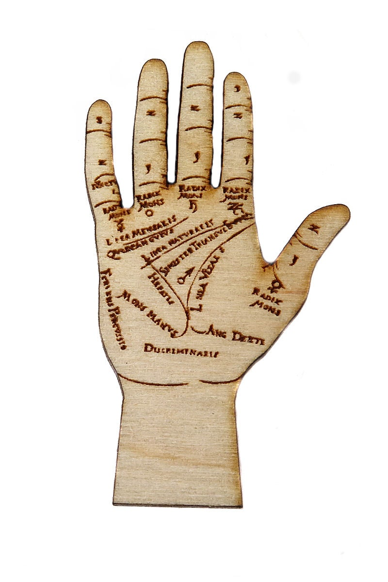 Image of Wooden Icons- Palmistry Hand