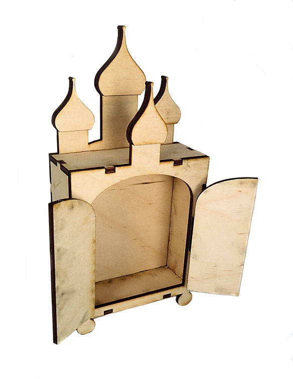 Image of Wooden Shrines-Large- Russian Shrine