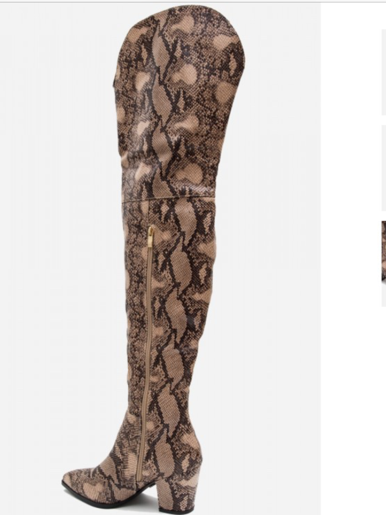 cfbffd4675b ... Image of Snakeskin Thigh High Boots ...