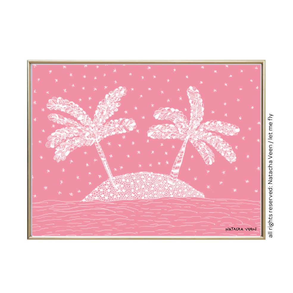 Image of Pink *Palm Tree*_18x24 cm