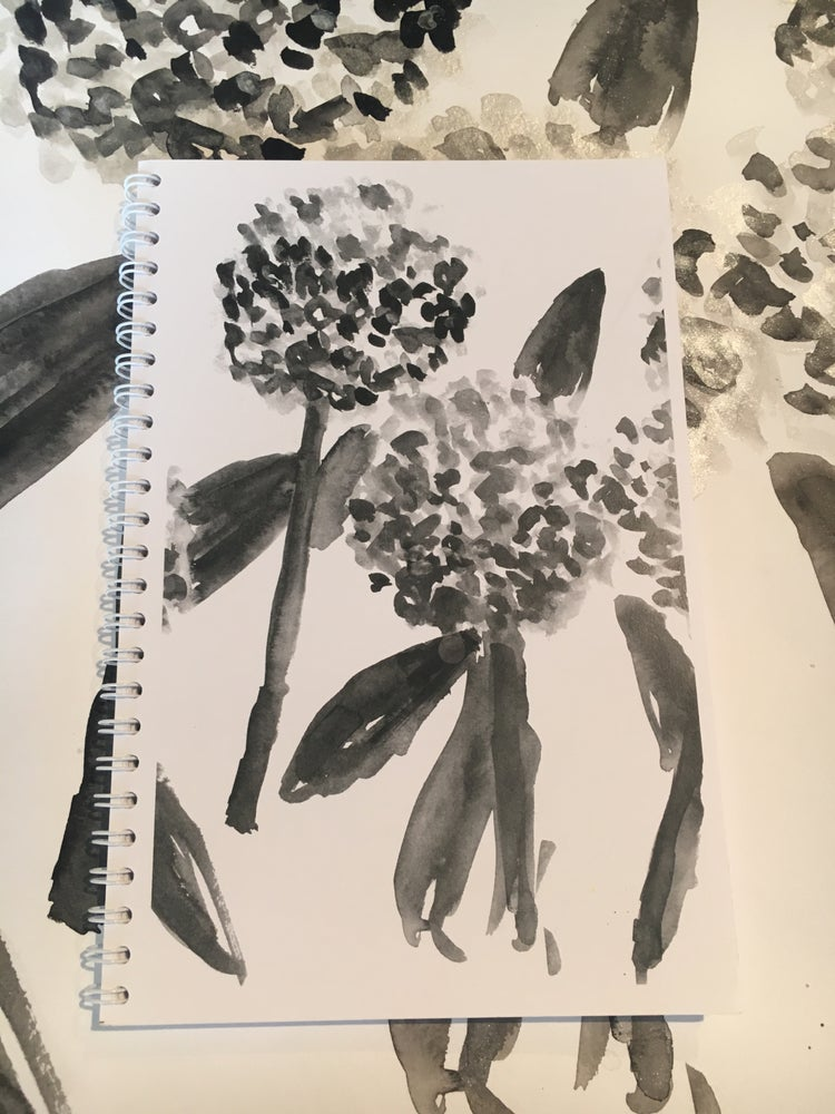 Image of Hydrangea Notebook