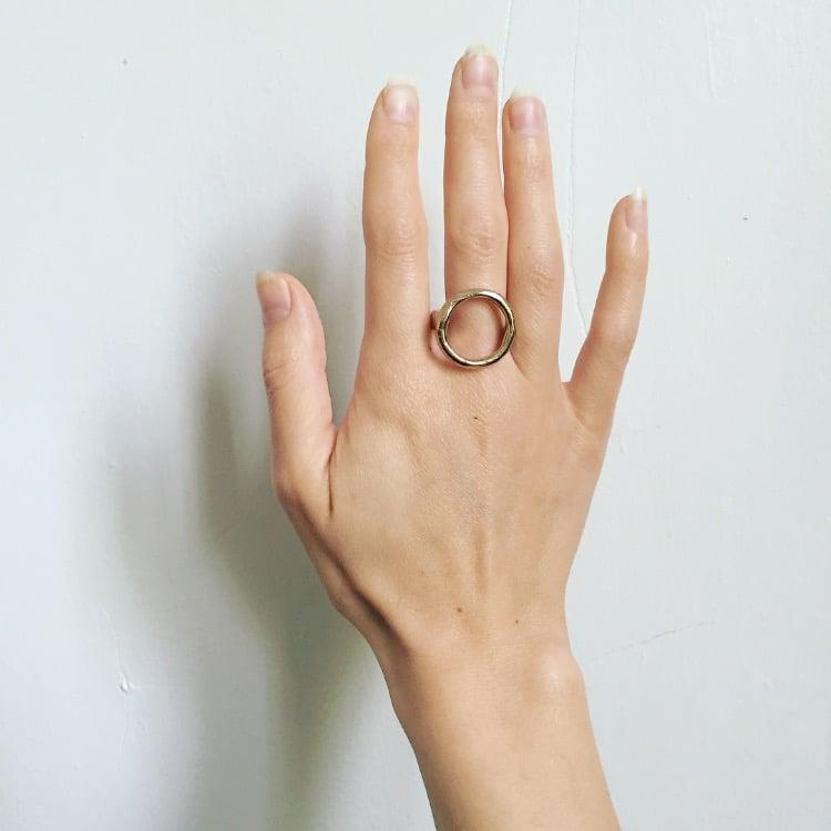 Image of Golden Hoop Ring