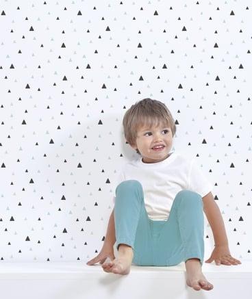 Image of Papel pintado geométrico niños