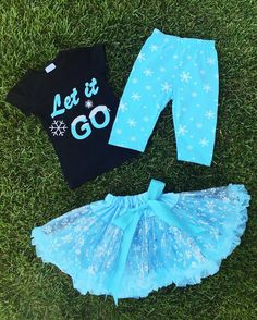 Image of Frozen Inspired LET IT GO Top and Tutu Skirt, toddler, girl, dress-up, parties, photos
