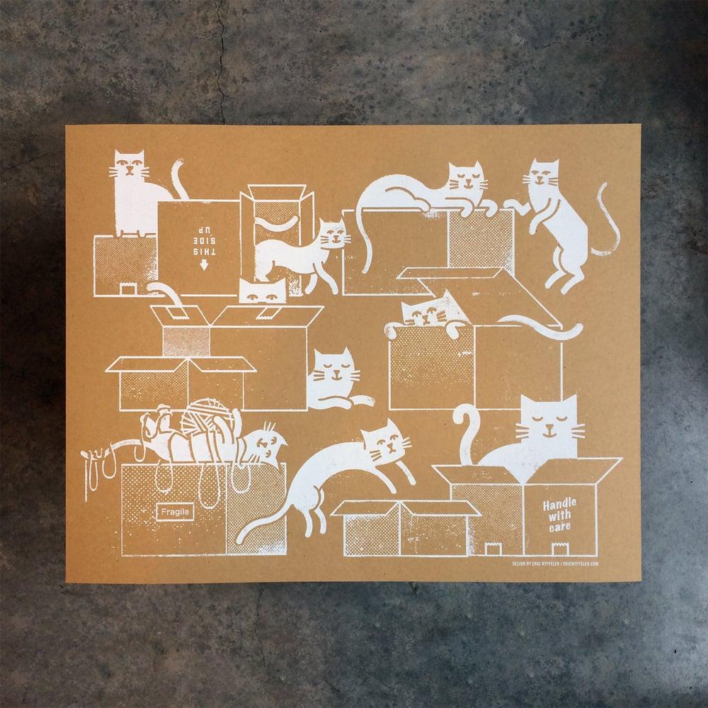 Image of Box Cats art print