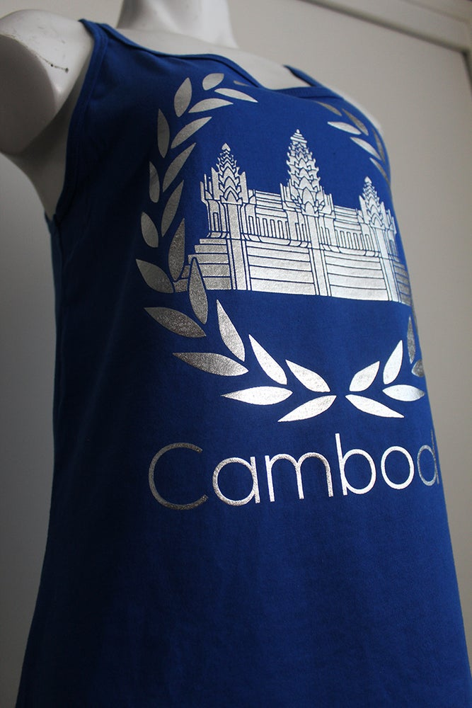 Image of Cambodian Crest Relaxed Fit Tank