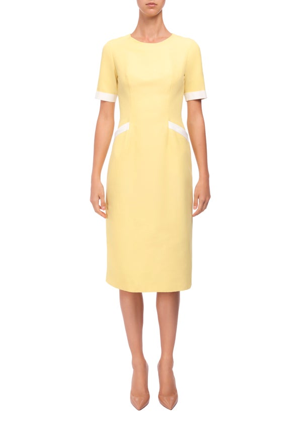Iris Dress (Yellow, Black, Blue & White) - Melissa Bui