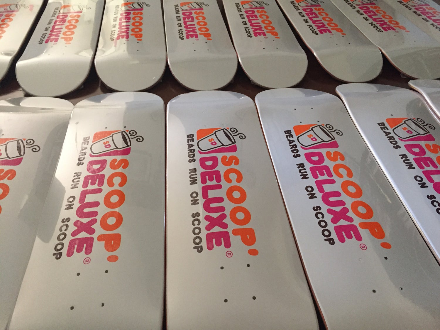 "Image of Scoop Deluxe Dunkin ""Deluxe Nuts"" Skateboard"