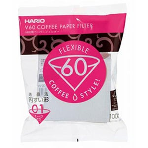 Image of hario white paper filters for dripper