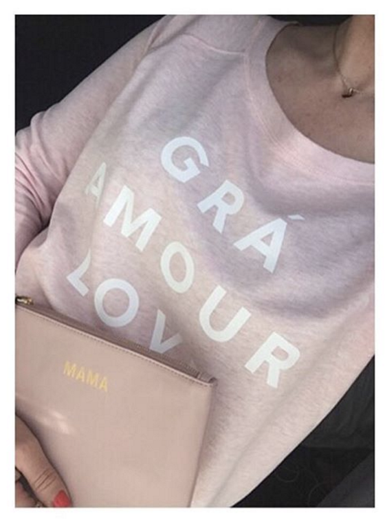 Image of THE LOVE T-SHIRT in Blush Marl now available to **PRE_ORDER**