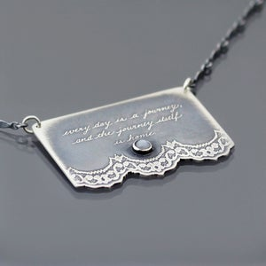 Image of Sterling Silver Journey Quote Necklace