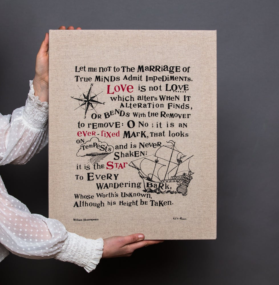 Image of 'The Shakespeare Collection' framed linen screen prints