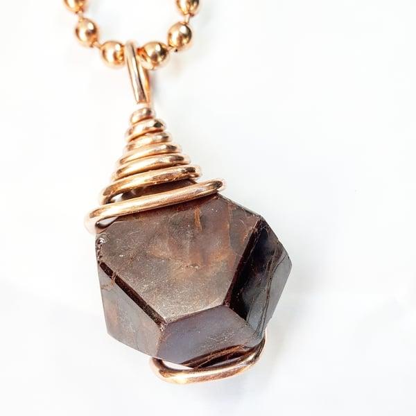 Image of Garnet Star Key Necklace