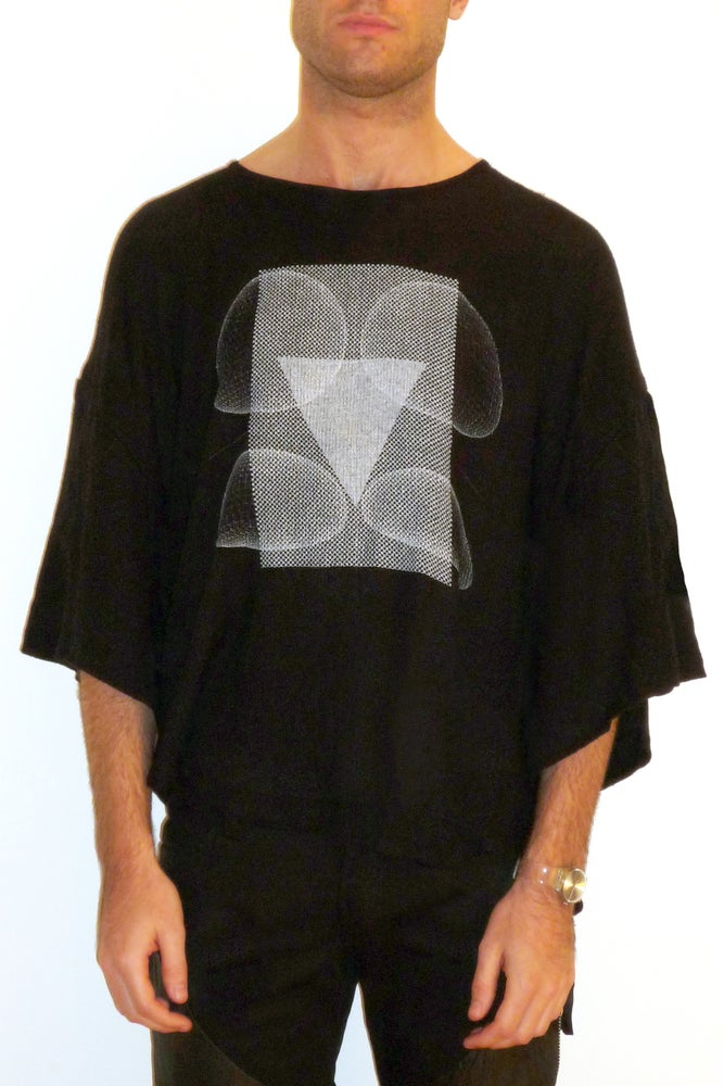 Image of Oversized Tee With Raindrop Print