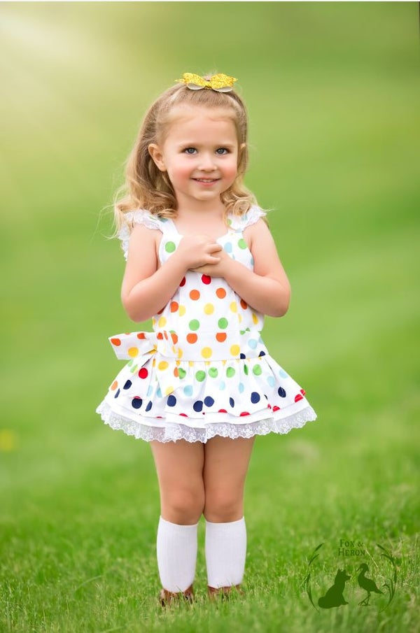 Image of Rainbow Polka dot Jody bubble