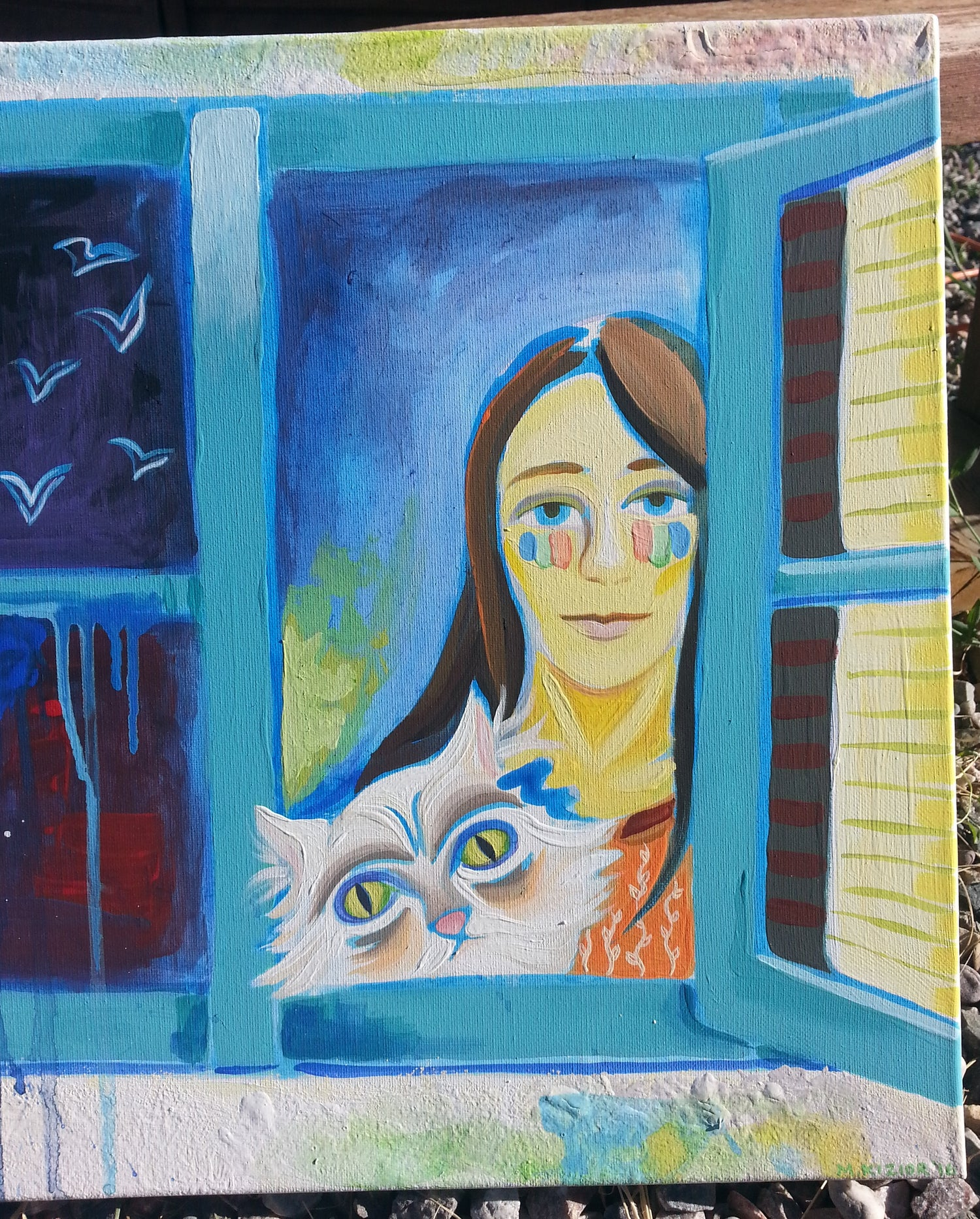 Image of Girl and Her Cat