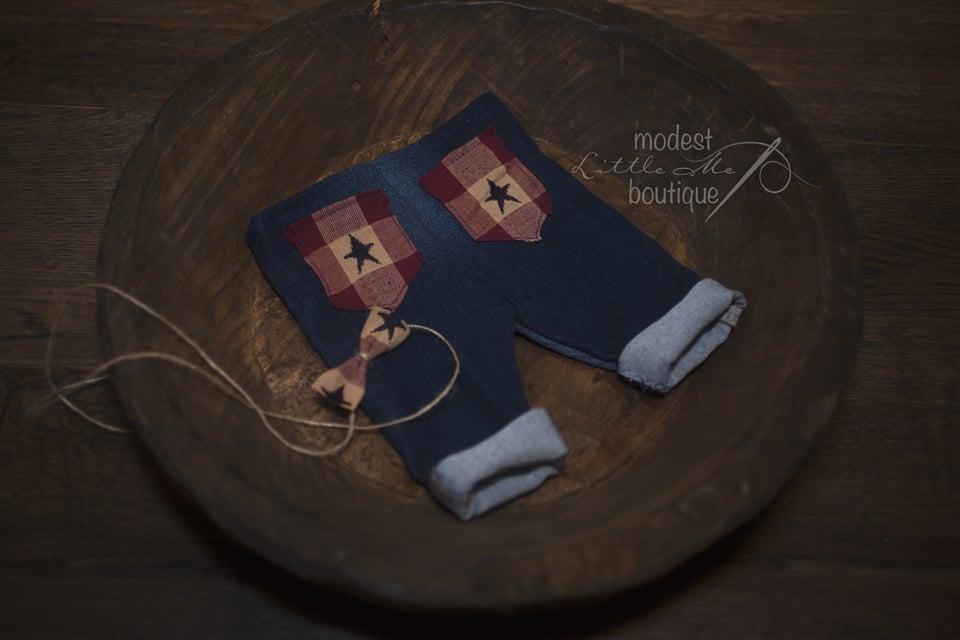 Image of Little { Independence } Denim Set
