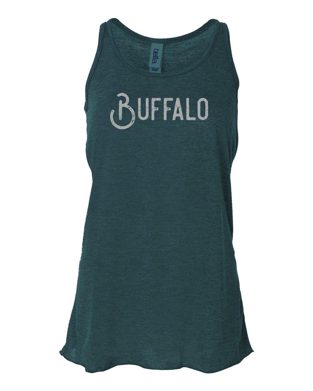"Image of ""Buffalo"" Ladies Tank - Light Aqua"