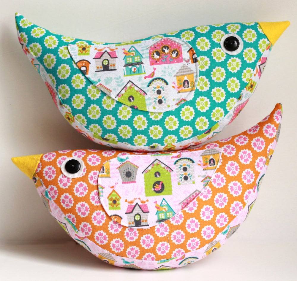 Image of Katie Bird Pillow PDF Sewing Pattern