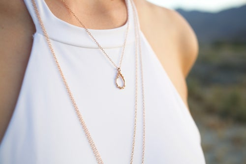 Image of Large Salt Drop Necklace