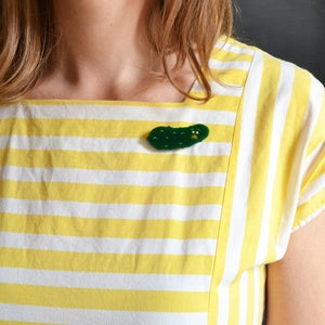Image of Worried Pickle Brooch