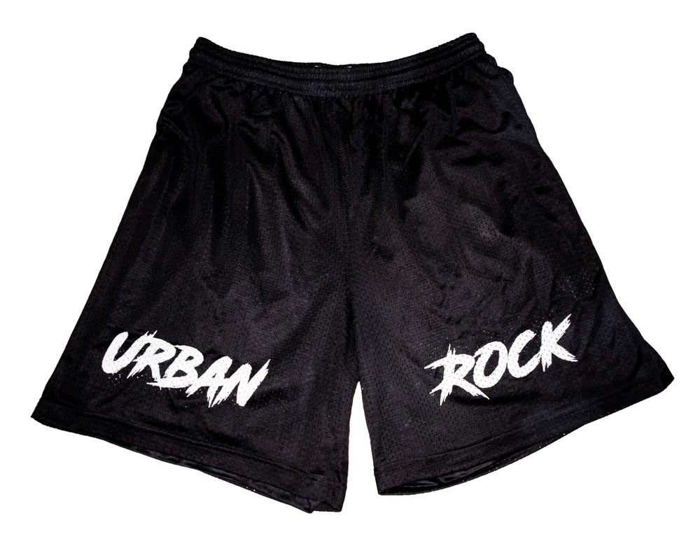 Image of Urban Rock Basketball Short - Black & White
