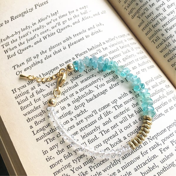 Image of Wish Bracelet - Aquamarine BACK SOON