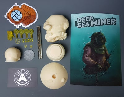 Image of Deep Sea Miner Raw Garage Model Kit (made to order)