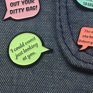 Image of The Golden Girls, Speech Bubble, Quote, Enamel Pin Pack!