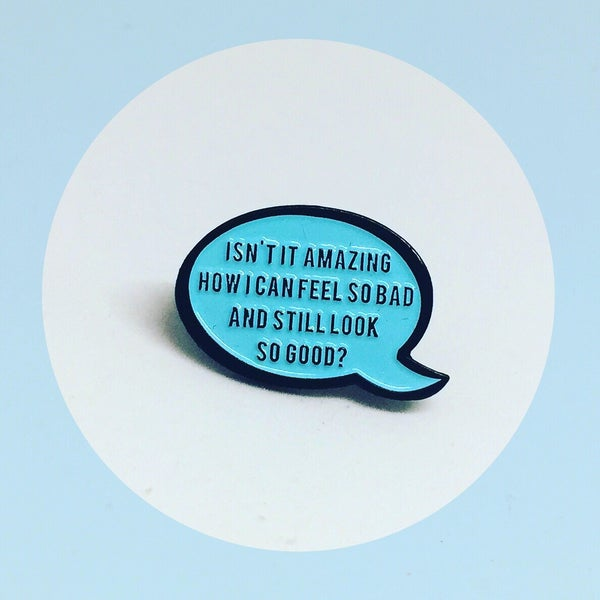 Image of Blanche Speech Bubble Quote, Golden Girls, Enamel Pin